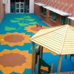wet pour safety surface colourful