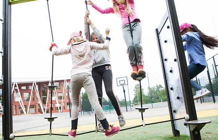 school multiplay playground trim trail