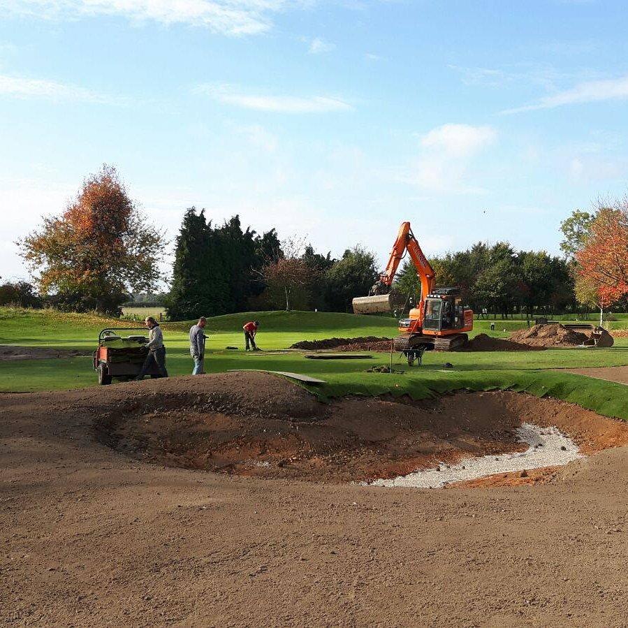 golf bunker constrution