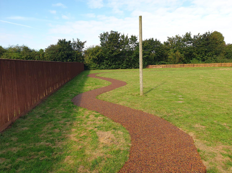 tigertrak mulch pathway