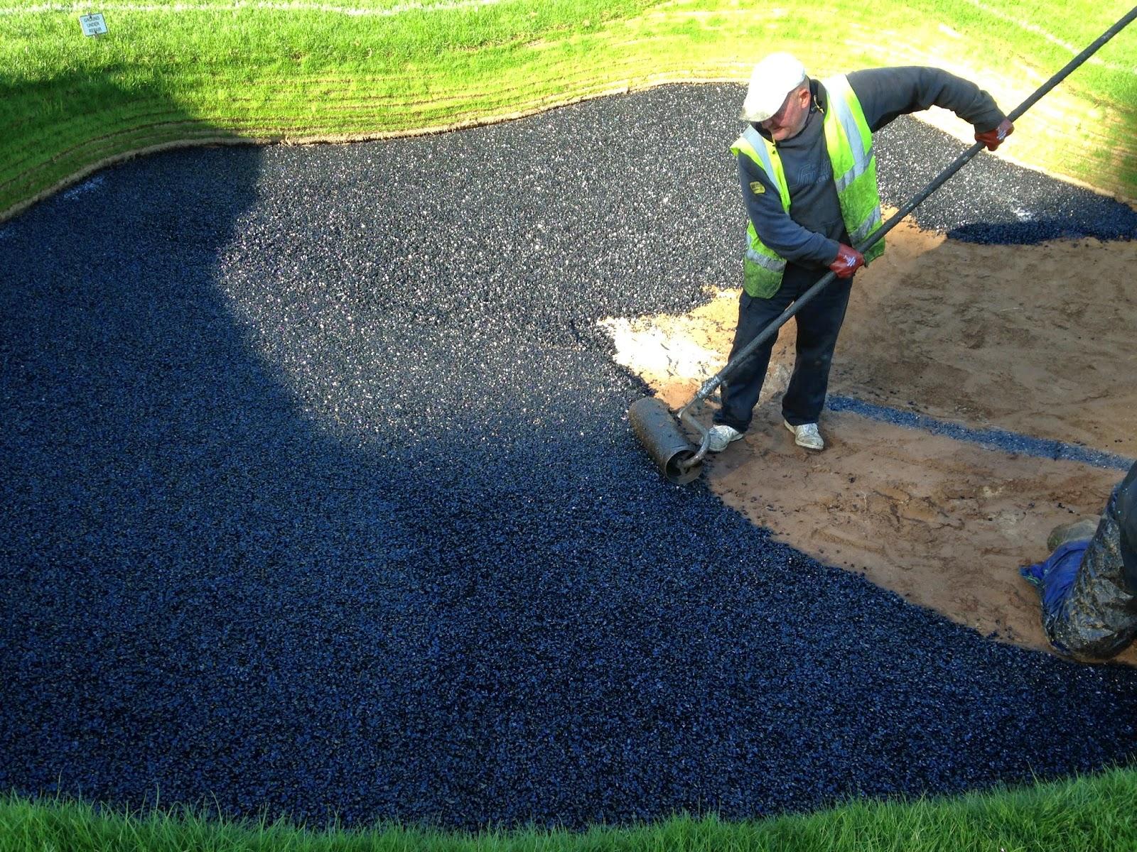 golf course bunker construction