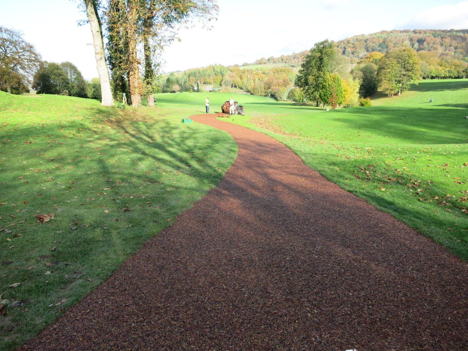 tigertrak path at golf course