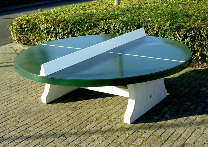round table tennis green