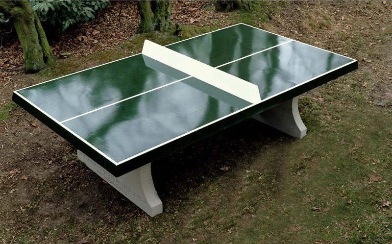 outdoor table tennis table green