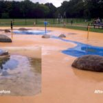 rubber surface cleaner before and after