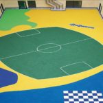 rubber safety surface in hospital