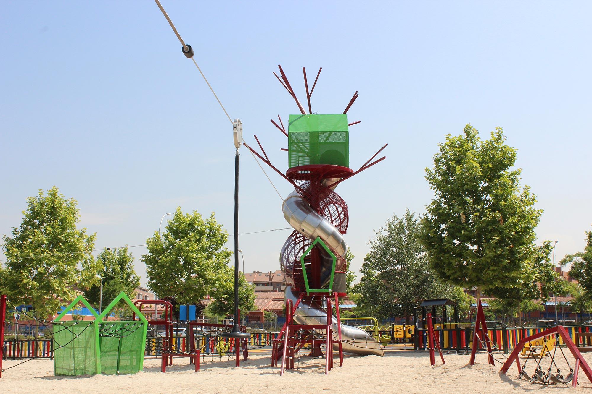 Large premium playground equipment tower slide