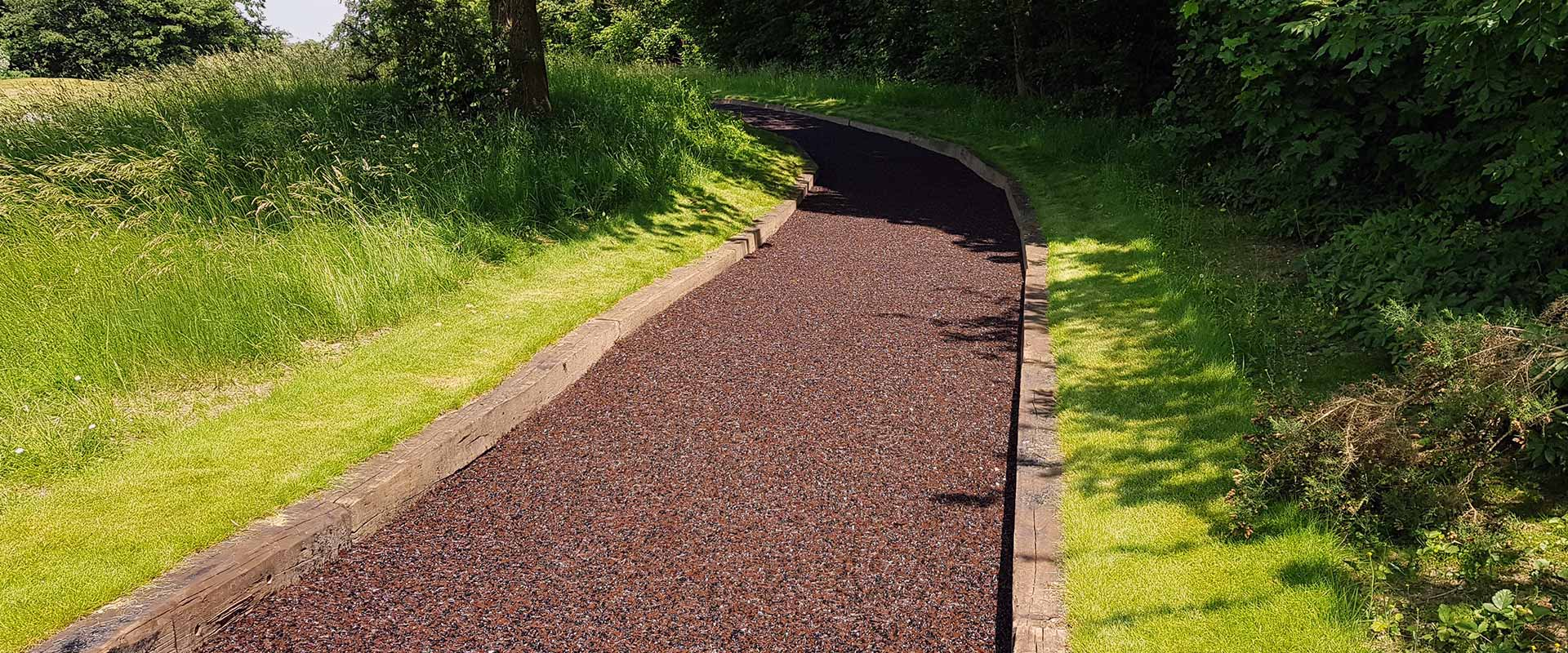 rubber mulch path