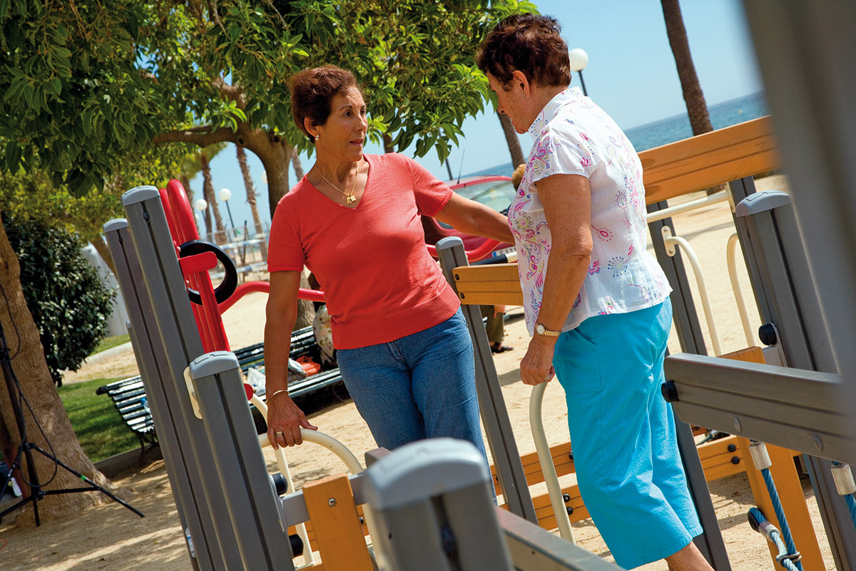senior fitness equipment 2 ladies