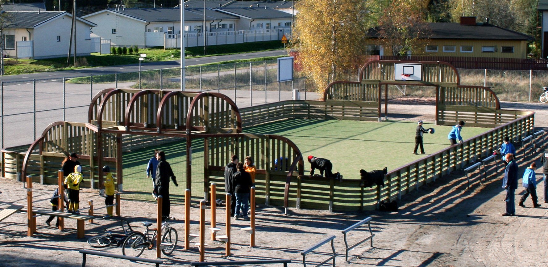 outdoor ball games arena in local public park