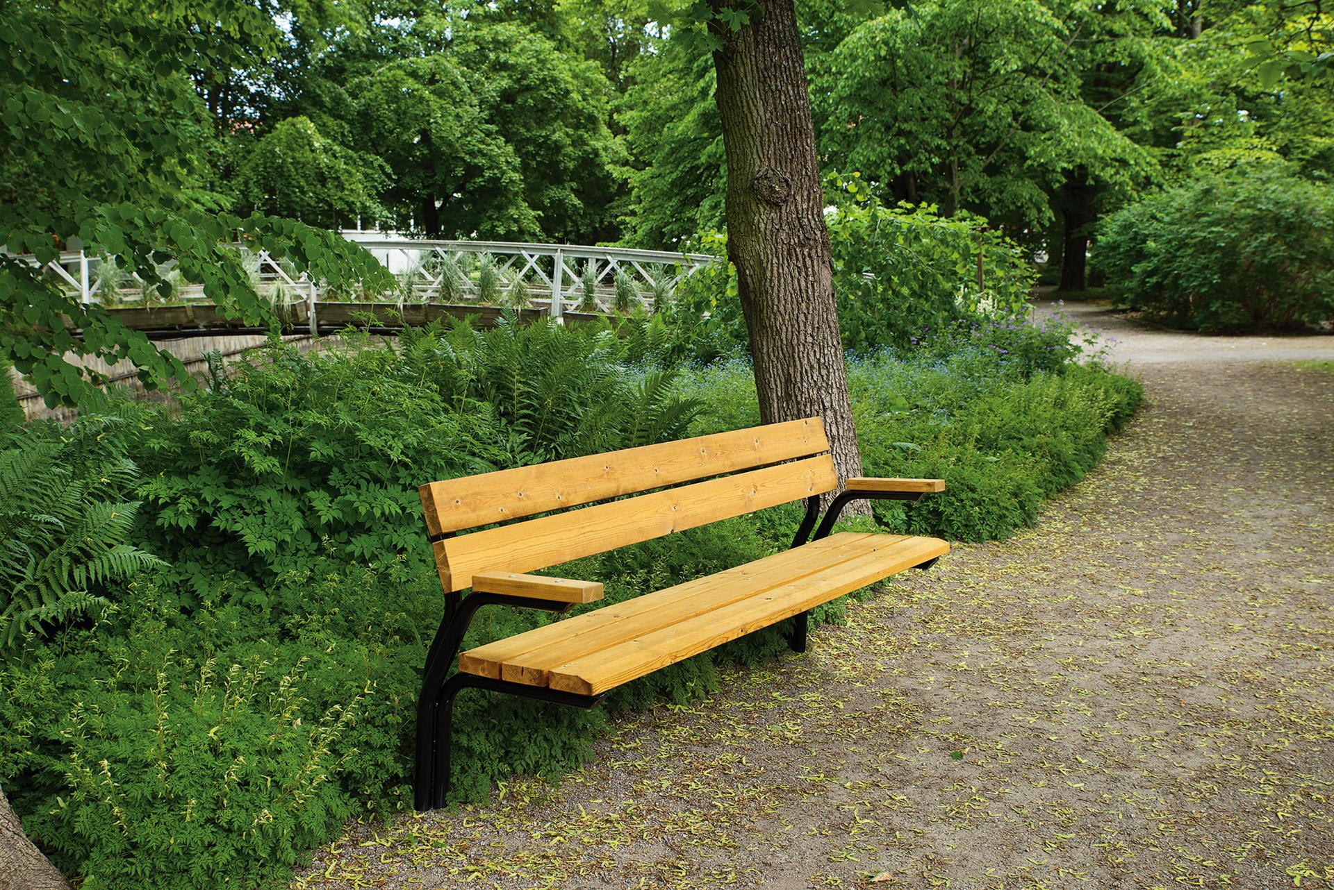 Stylish scandinavian park & street furniture bench