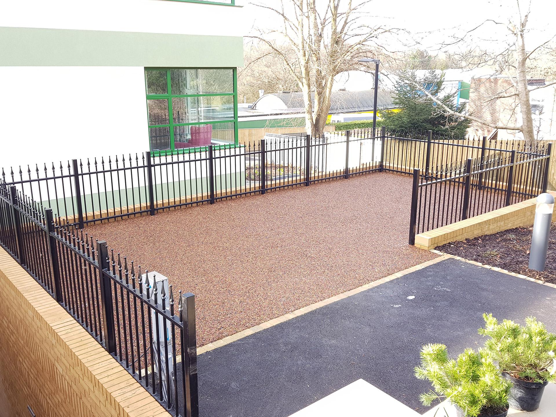rubber mulch area