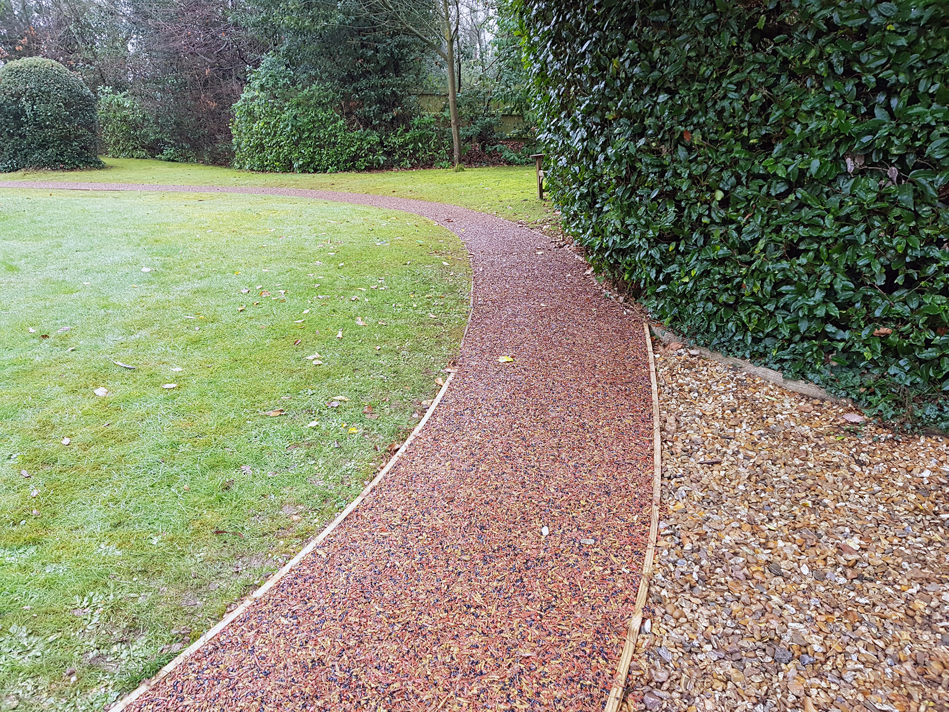 rubber mulch path