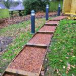 rubber mulch steps