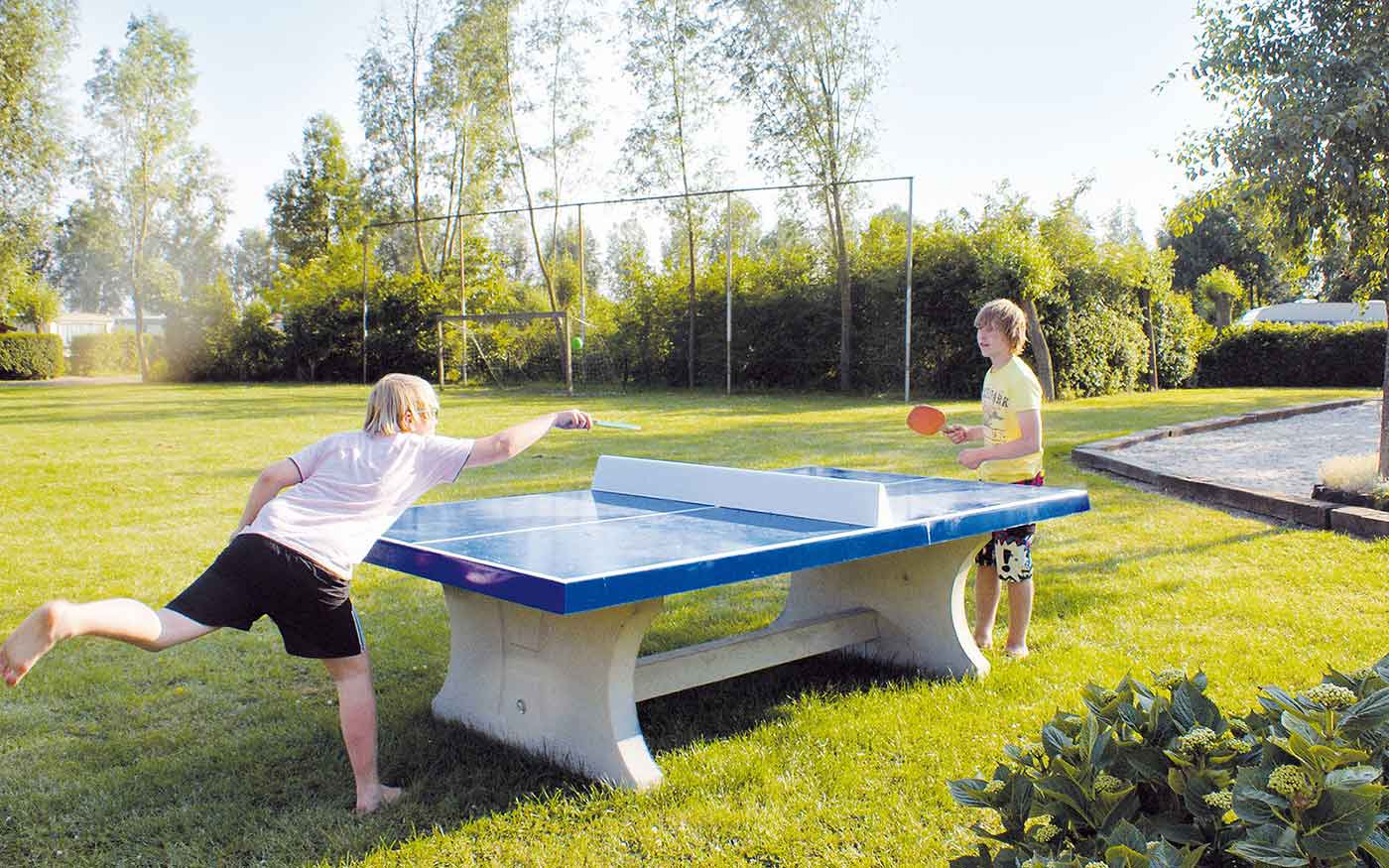 concrete table tennis table outdoors