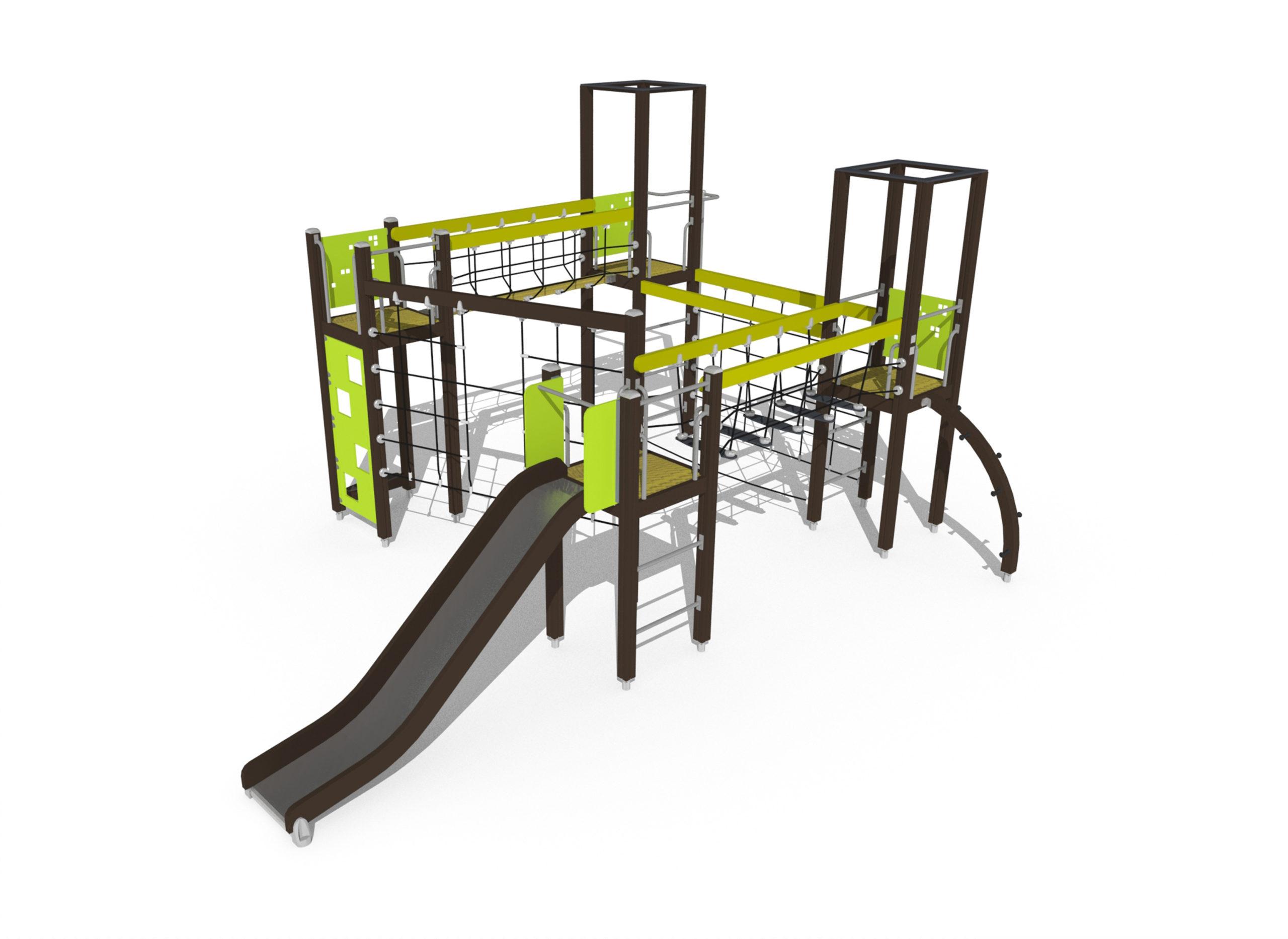 motoric track playground climbing frame