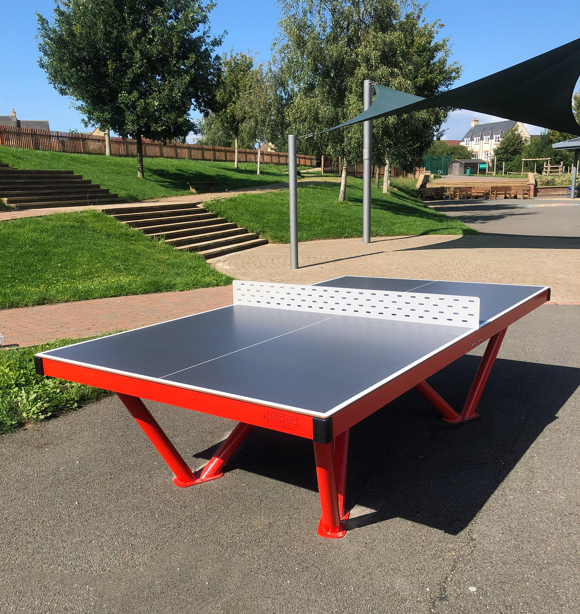 metal outdoor table tennis table
