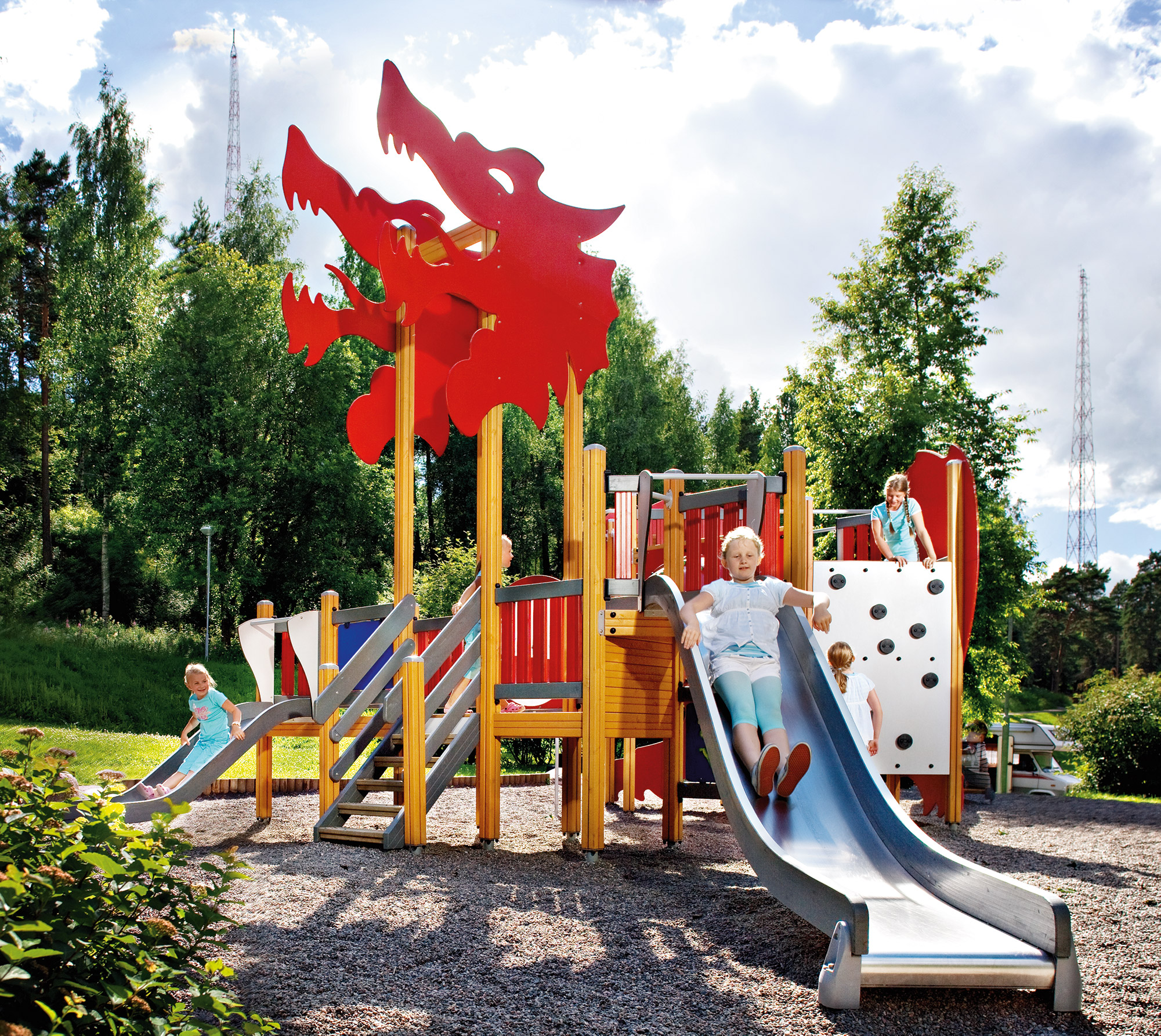 dragon themed muiltiplay activity tower