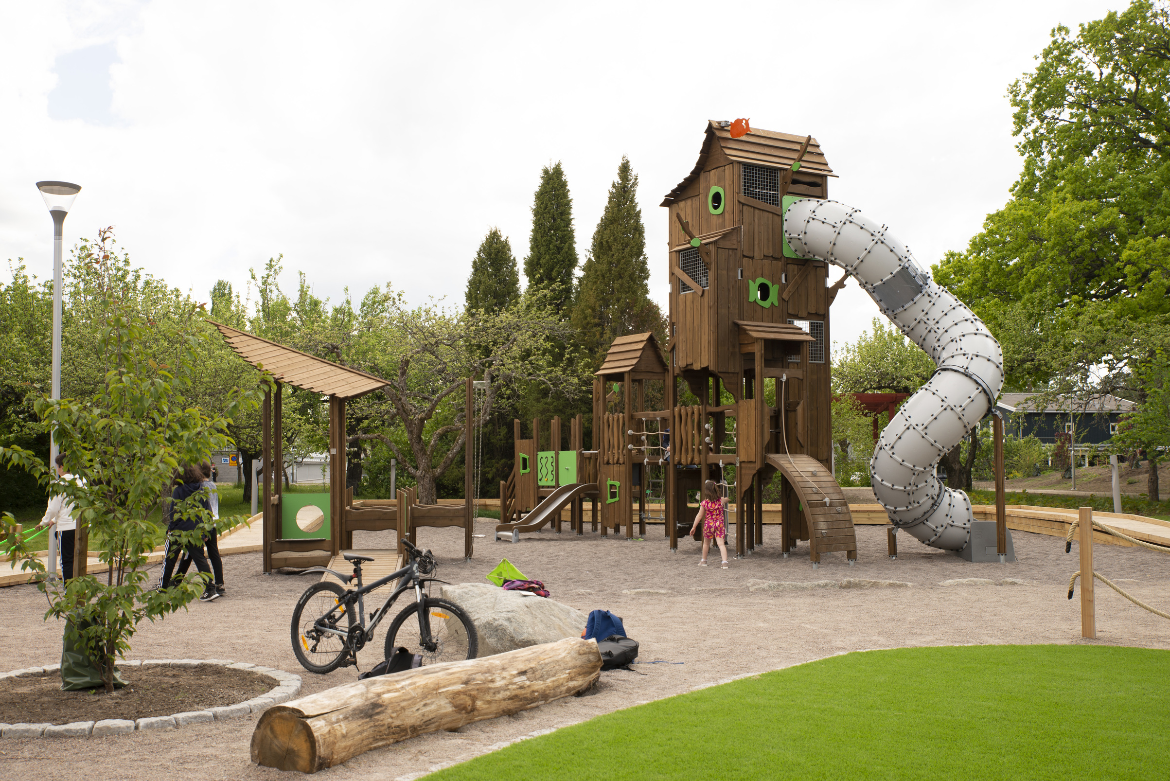playground activity tower with slide