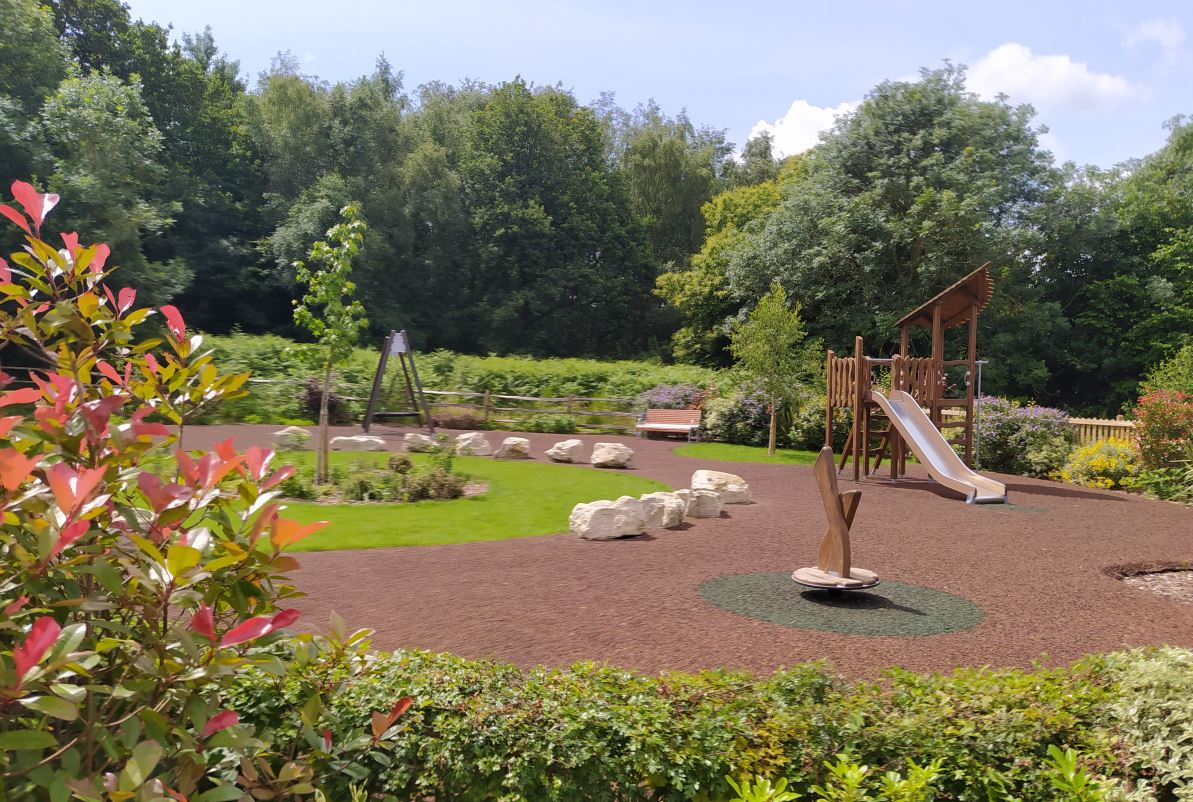 play area in kent with tiger mulch surfacing